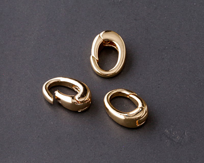 Gold (Plated) Ring Lobster Clasp 12x8mm