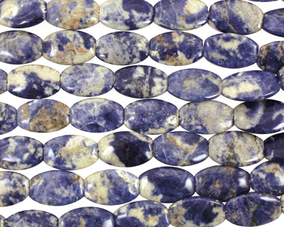 Bolivian Sodalite Flat Ended Oval 30x20mm