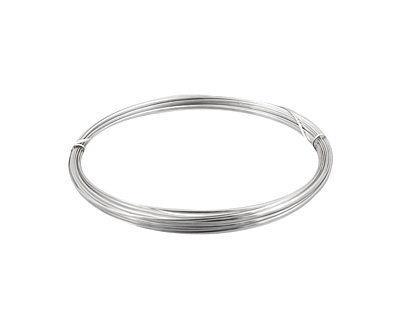 German Style Wire Silver (plated) Half Round 21 gauge, 4 meters