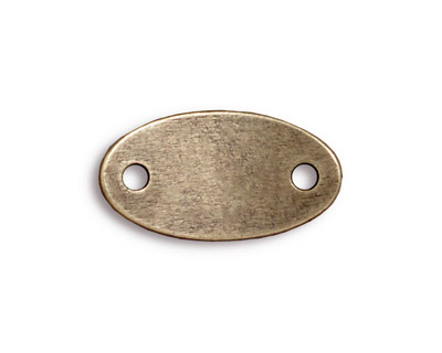 TierraCast Antique Brass (plated) Rock & Roll Oval Link 25x13mm