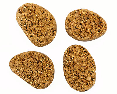 Gold Plated (24K) Freeform Druzy Pieces 23-25x31-35mm