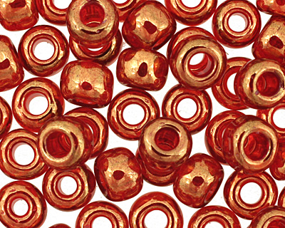 TOHO Gold Lustered African Sunset Round 6/0 Seed Bead