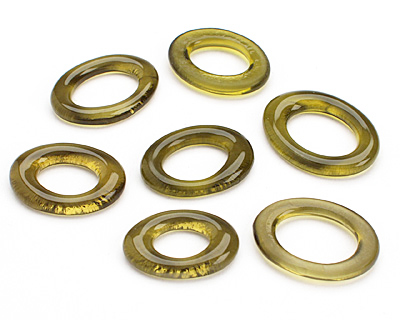 Olive Wine Glass Bottle Ring 29-37x22-28mm