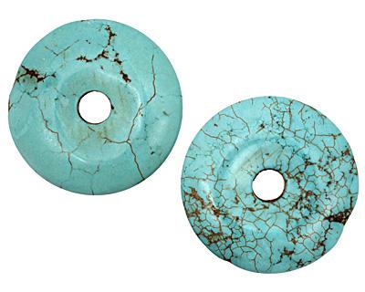 Blue Magnesite Donut 45mm
