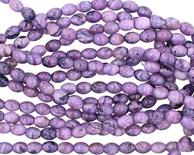 Purple Wave Agate Rice 10x8mm