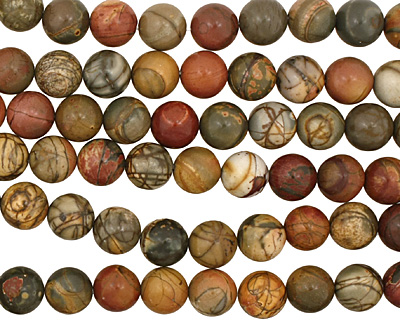 Red Creek Jasper Round 12mm