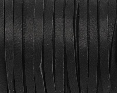 Black Deerskin Leather Lace 1/8