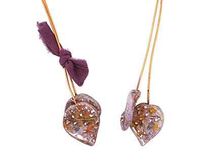 Humble Beads Polymer Clay Purple Petal Headpin 18x20mm