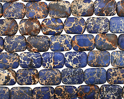 Denim Blue Impression Jasper Thin Pillow 31x23mm