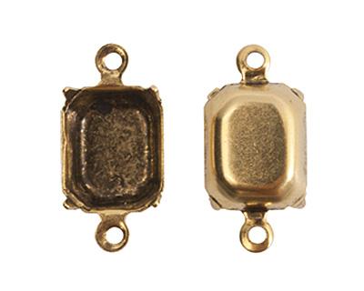 Nunn Design Antique Gold (plated) Octagon Prong Setting 17x9mm