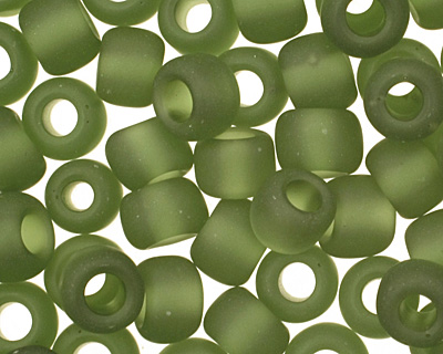 TOHO Transparent Frosted Olivine Round 6/0 Seed Bead