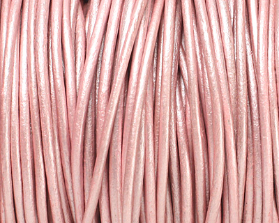 Mystique Pink (metallic) Round Leather Cord 2mm
