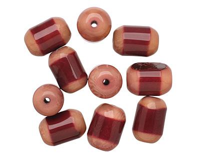 Tagua Nut Merlot Bicolor Barrel 23-24x16-17mm