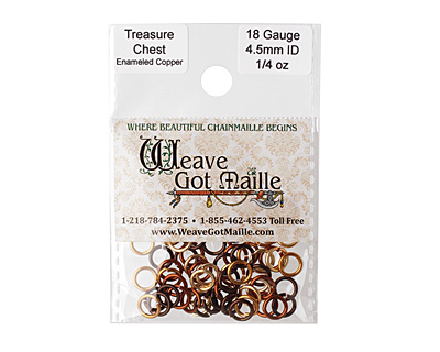 Treasure Chest Mix Enameled Copper Round Jump Ring 6.5mm, 18 gauge
