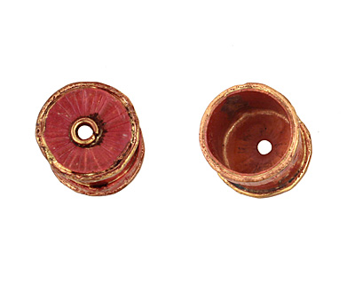 Patricia Healey Copper Large Barrel Bead Cap 16mm