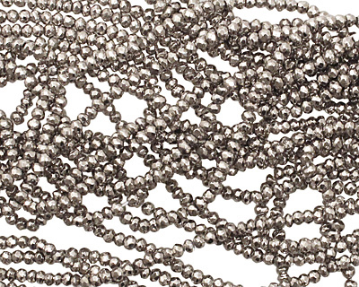 Golden Pyrite (titanium) Faceted Rondelle 3mm