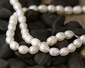 Pearly White Freshwater Rice Pearl 5-7x5-6mm