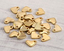 Gold (plated) Stainless Steel Tiny Heart Charm 7x6mm