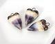 Gaea Ceramic Twilight & Dark Gold Dipped Heart Pendant 17-18x31-32mm