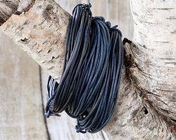 Natural Blue Round Leather Cord 1.5mm, 32 feet