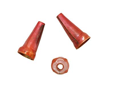 Patricia Healey Copper Small Plain Cone w/ Dots 20x10mm