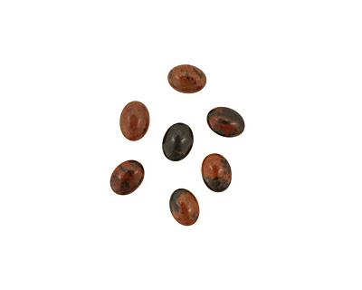 Mahogany Obsidian Oval Cabochon 6x8mm