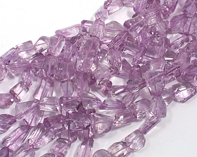 Pink Amethyst Faceted Nugget 15-21x13-16mm