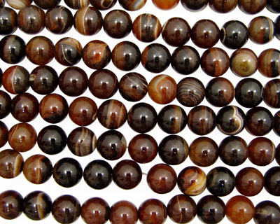 Brown Lace Agate Round 16mm