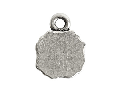 Nunn Design Antique Silver (plated) Ornate Flat Mini Square Tag 10x13.5mm