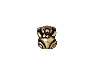 TierraCast Antique Brass (plated) Bear Euro 9x12mm