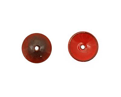 C-Koop Enameled Metal Medium Red Disc 3-4x18-20mm