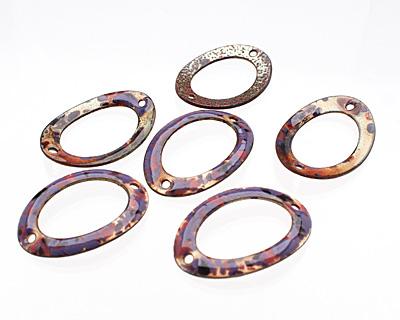 C-Koop Enameled Metal Purple Mix Large Oval Link 34-38x24-25mm