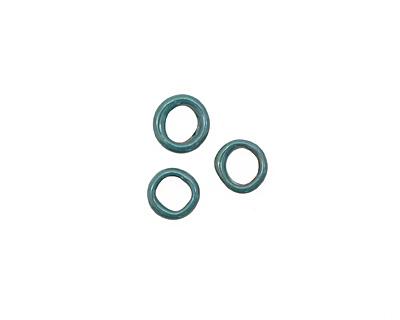 C-Koop Enameled Metal Peacock Blue Ring 10-11mm