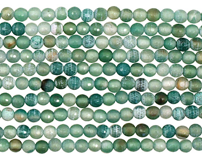 Green Agate Faceted Round 6mm
