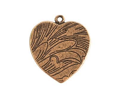 Nunn Design Antique Gold (plated) Traditional Heart Bezel Pendant 23x27mm