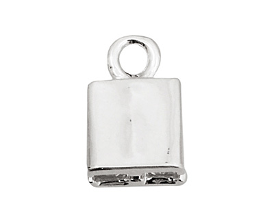 SilverSilk Silver (plated) Double Strand End Cap 13x8mm