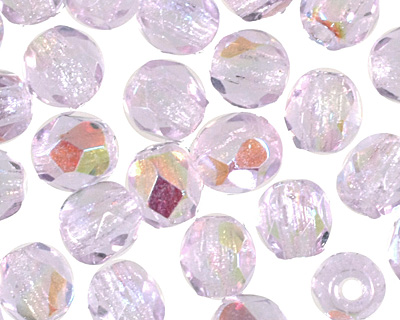 Czech Fire Polished Glass Alexandrite AB Round 3mm