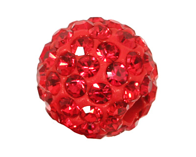 Siam Ruby Pave Round 8mm