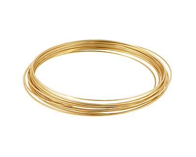 German Style Wire Non Tarnish Brass Square 22 gauge, 3.5 meters