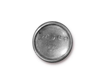 TierraCast Antique Pewter (plated) Rock & Roll Snap Cap 18mm