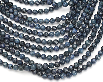 Dumortierite Faceted Round 8mm