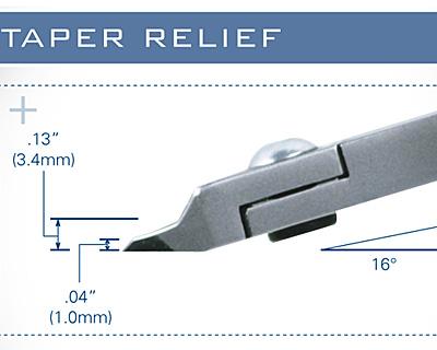 Tronex Taper Relief Razor Flush Cutter (standard handle length)