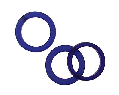 Trinket Foundry Cobalt Found Glass Bottle Ring 27-29x5-7mm