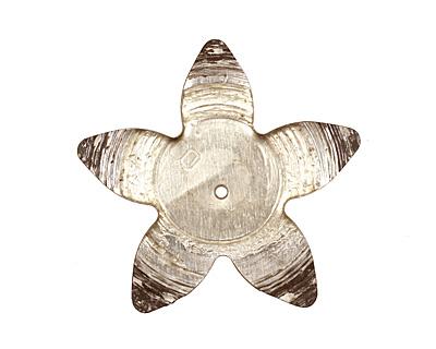 Trinket Foundry Navy & Gold (Pale) Large 5 Petal Bottle Cap Flower 34mm