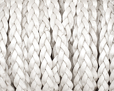 Pearl Flat Braided Leather Cord 5mm