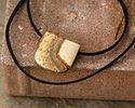 Picture Jasper Banner Pendant (large hole) 30x30mm