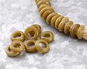 African Recycled Glass Caramel Dogun Mini Ring 10-14mm