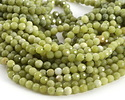 Olive Jade Faceted Round 6mm