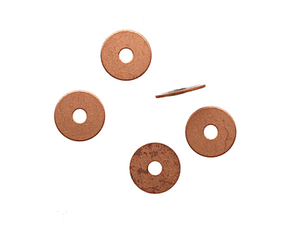 Copper (plated) Flat Washer #0 (.064