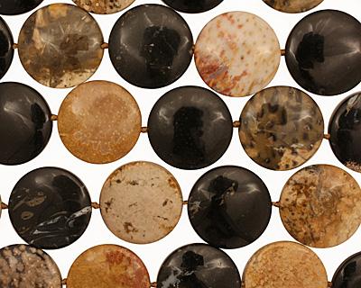 Palm Jasper Puff Coin 25mm